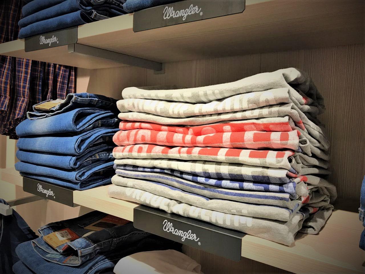 Allestimento visual merchandising per Wrangler by Yu Retail