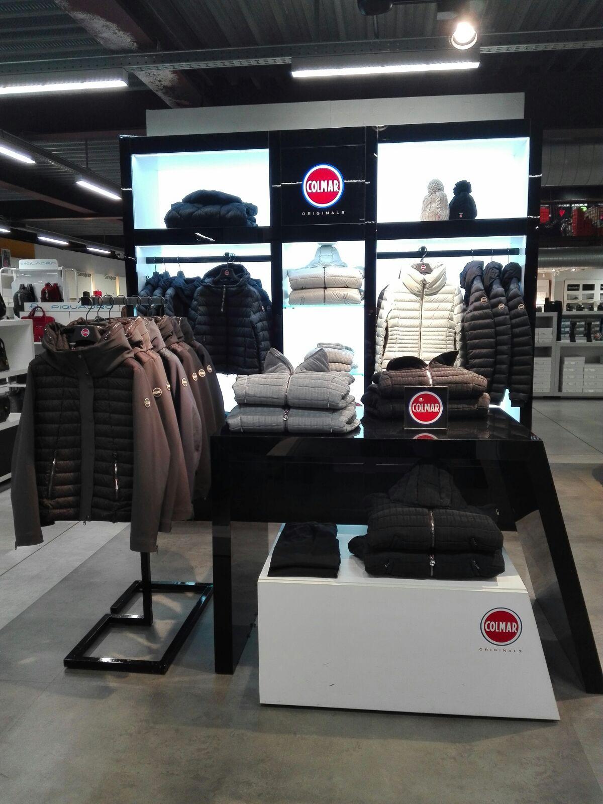 Allestimento visual merchandising per Colmar by Yu Retail