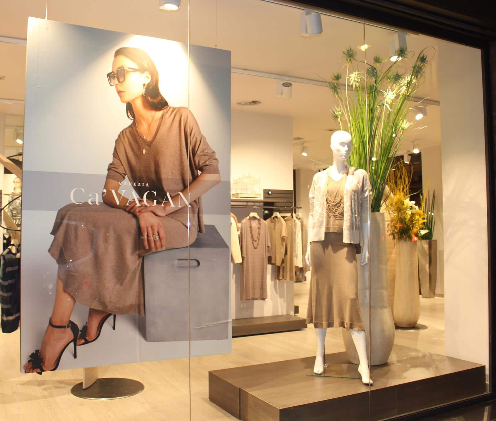 Allestimento visual merchandising per Cà Vagan by Yu Retail