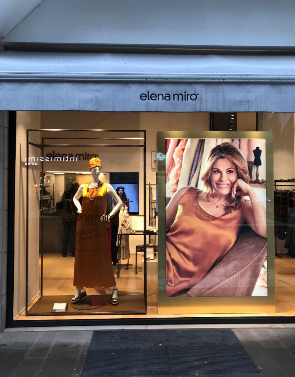 Allestimento visual merchandising per Elena Mirò by Yu Retail